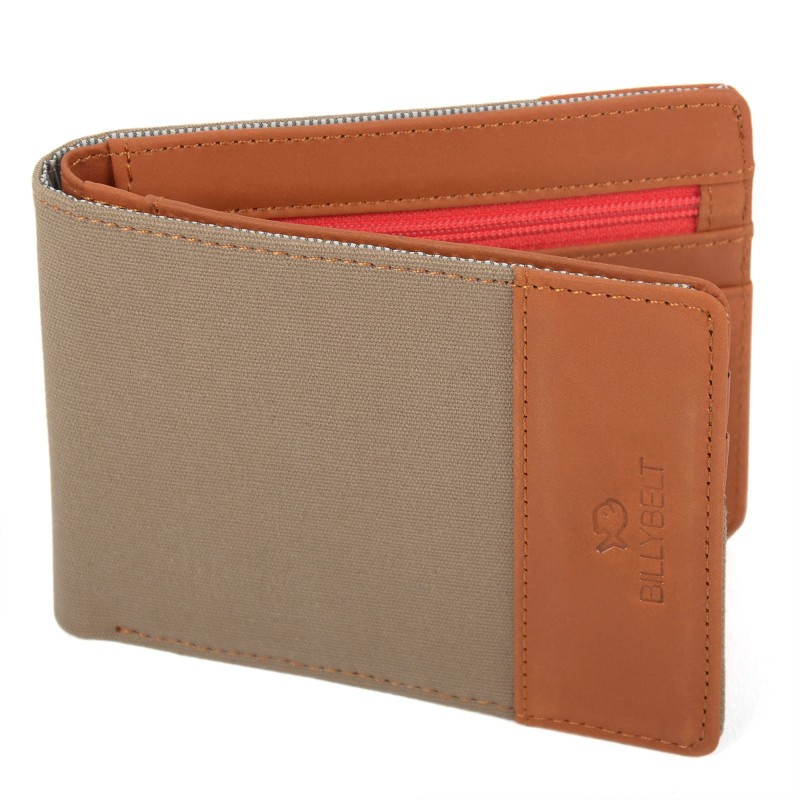 Leather wallet Dark Beige
