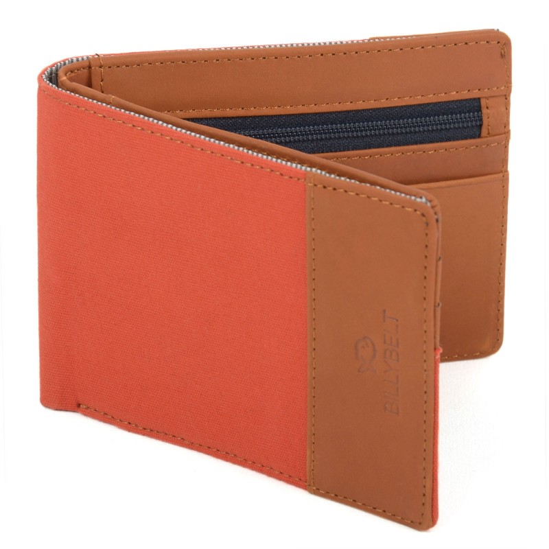 Leather wallet Orange Brick