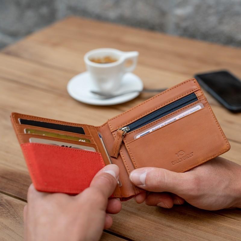 Wallet  Orange Brick