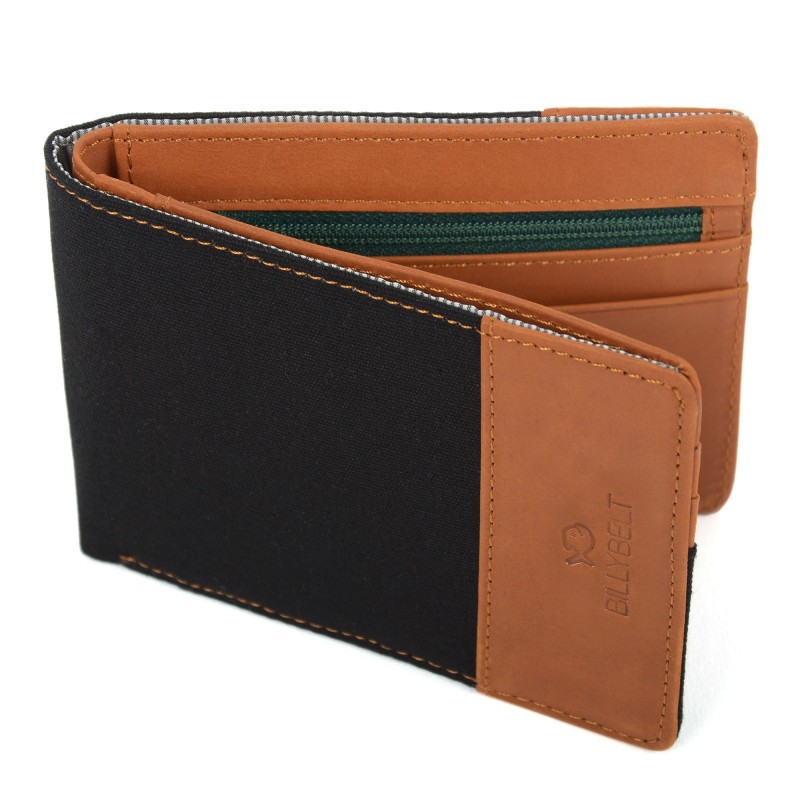 Leather wallet  Liquorice Black