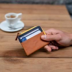 Porte-cartes zip  Bleu Marine