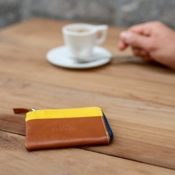 Zipped Card Holder  Yellow