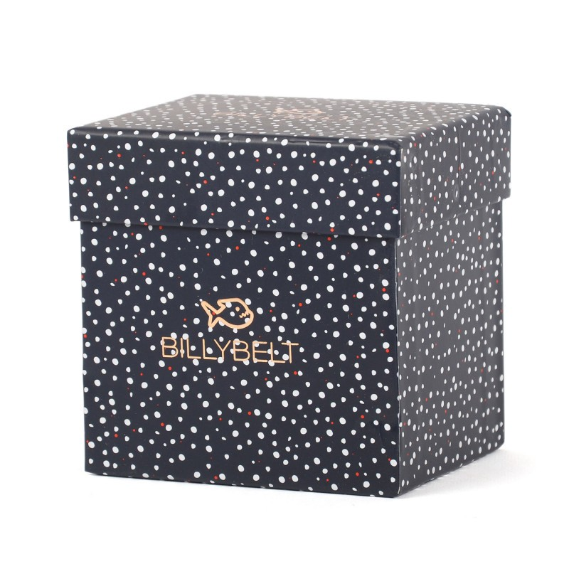 Duo gift box - Navy dots / Copper