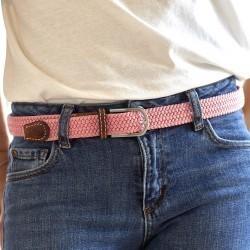 Women woven belt  Pink
