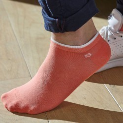 Cotton ankle socks Coral