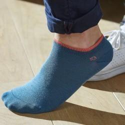 Socquettes coton Bleu Lagon