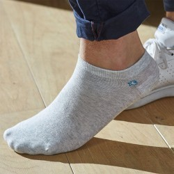 Cotton ankle socks Mottled light Grey