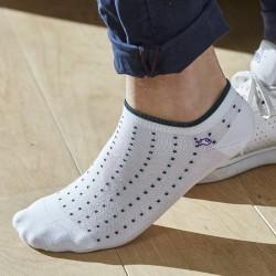 Socquettes coton  Blanc Square