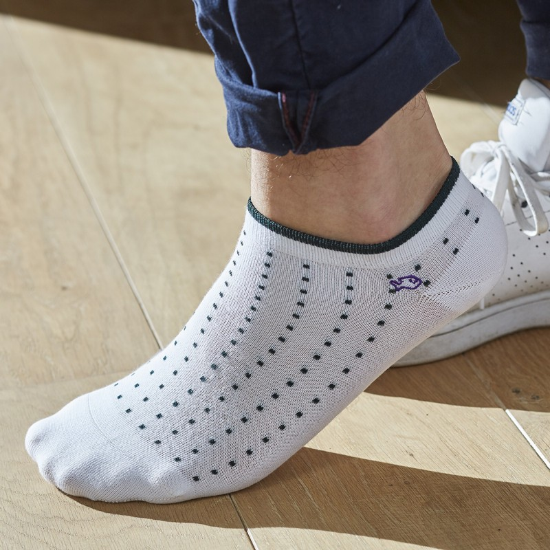 Cotton ankle socks White Square