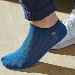 Cotton ankle socks Blue Square