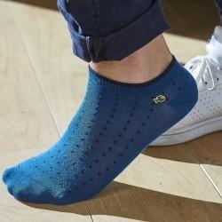 Socquettes coton Bleu Square