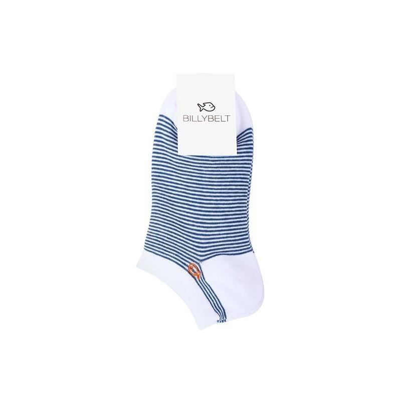 Socquettes coton Rayée Ardoise
