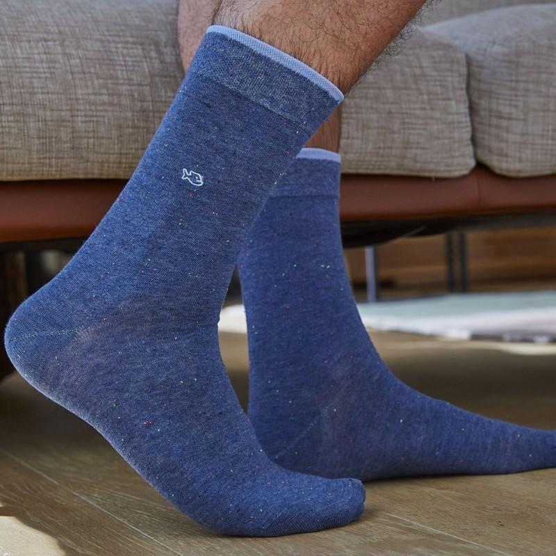 Cotton socks Mottled Pale Blue