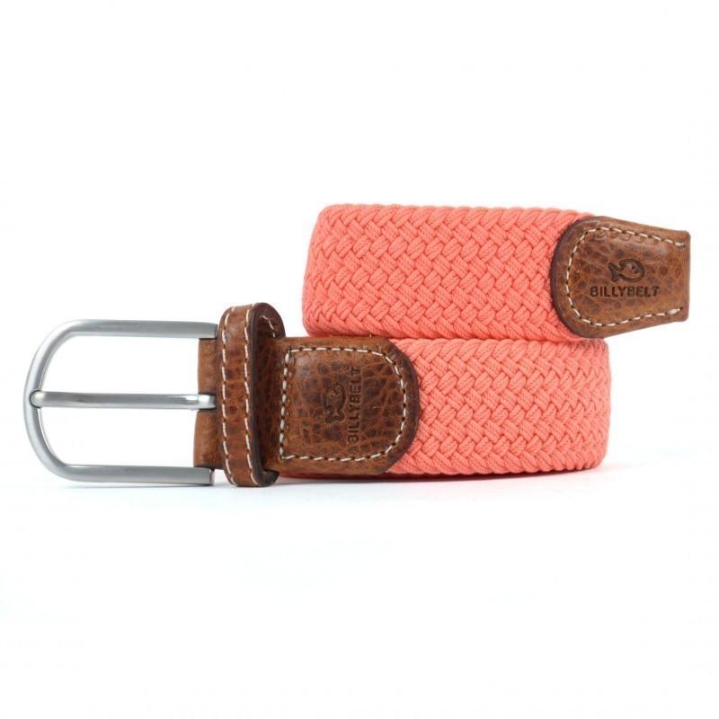 Elastic woven belt Coral