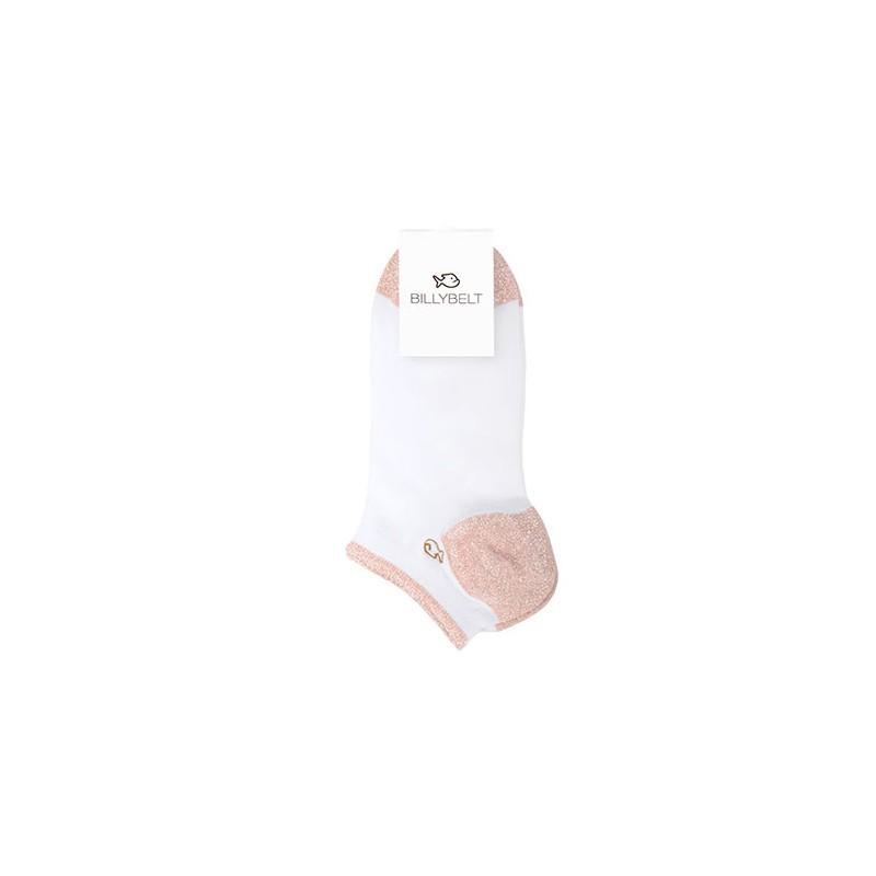 Socquettes coton Blanc Cuivré