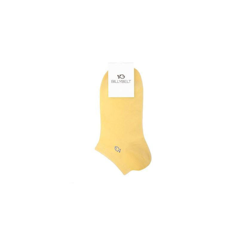 Coton ankle socks Pale Yellow