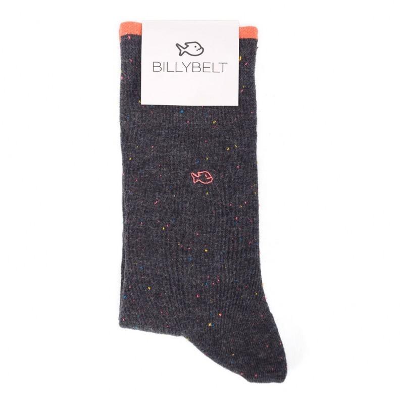 Cotton socks Mottled Dark Grey