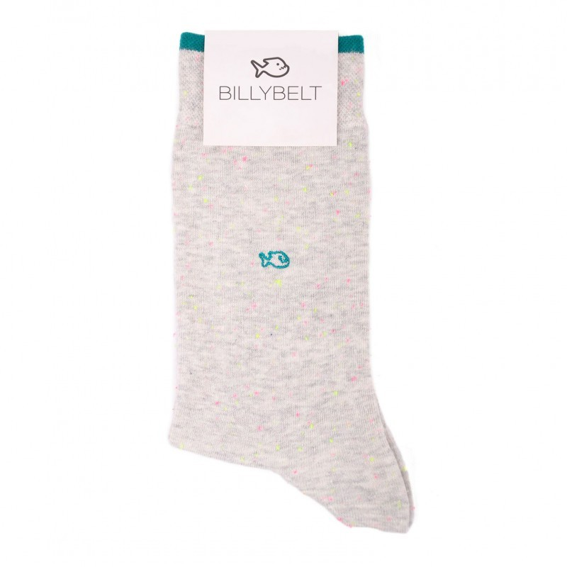 Cotton socks Mottled light grey