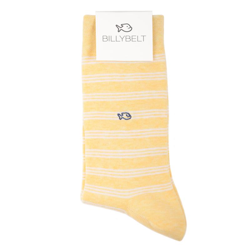 Chaussettes coton Fines Rayures jaune / blanc