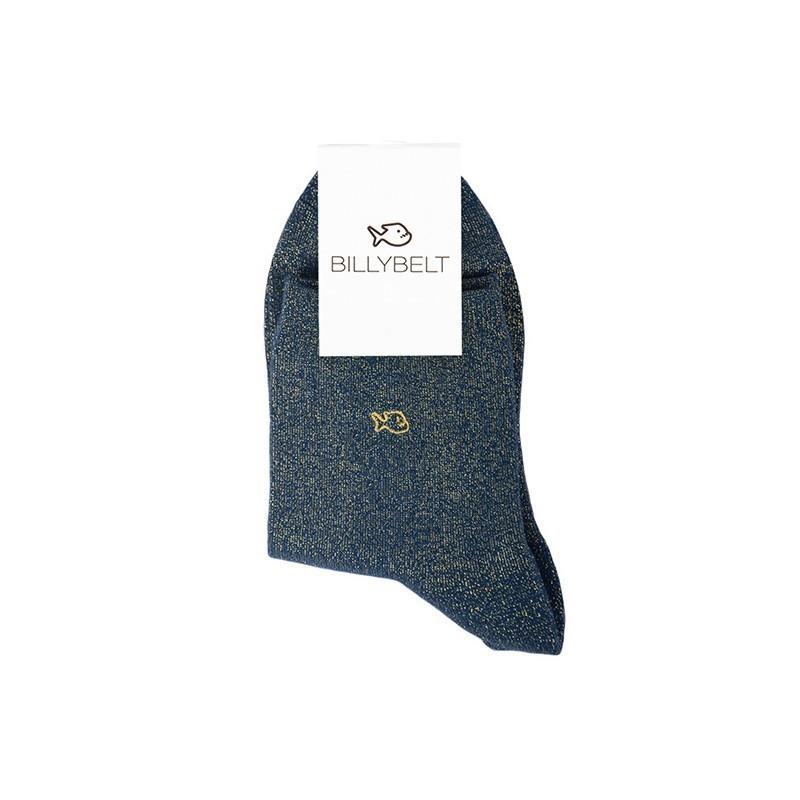 Chaussettes coton Paillettes Bleu Canard