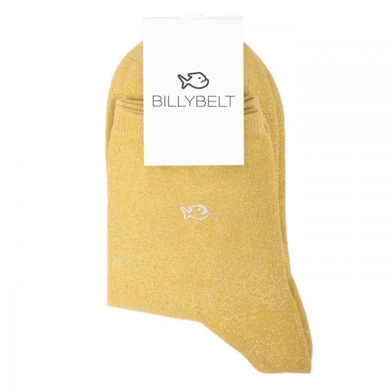 Chaussettes coton Paillettes Jaune