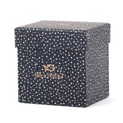Blue gift box with white dots