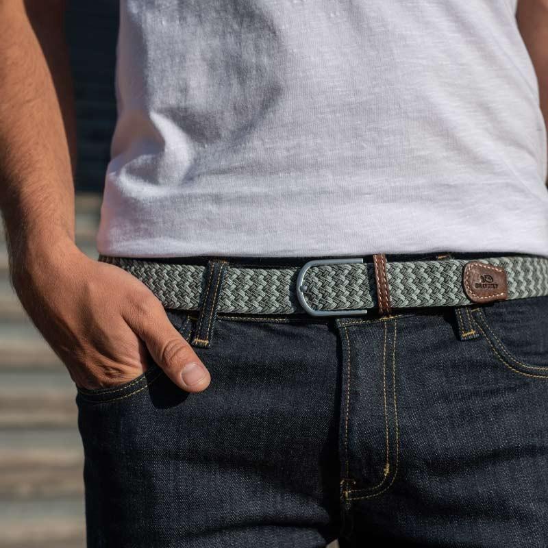 Multicoloured elastic woven belt The Calgary