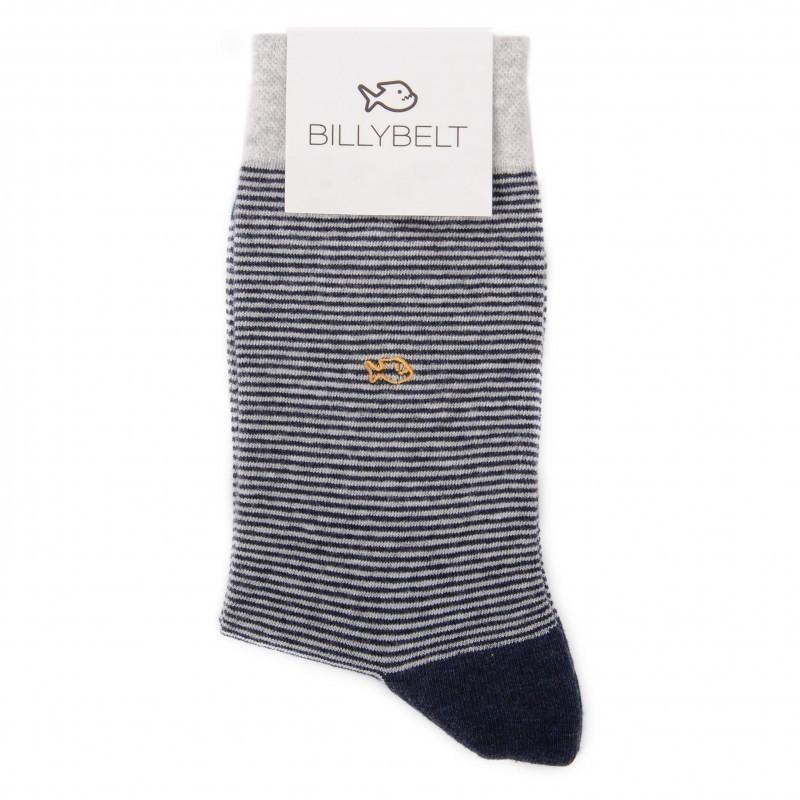 Cotton socks Light Grey Striped
