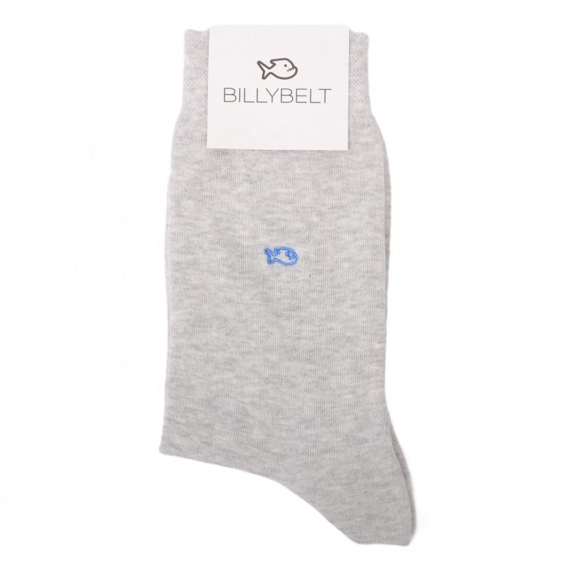 Cotton Socks Mottled Grey