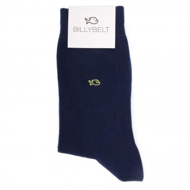 Cotton Socks Cobalt Blue