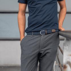 Elastic woven belt  Slate Blue