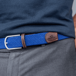 Elastic woven belt  Royal Blue