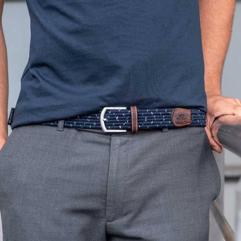 Elastic woven belt  The Club Menthol