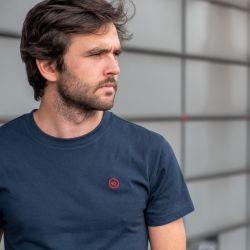T-shirt uni bleu marine en coton biologique - 190gr