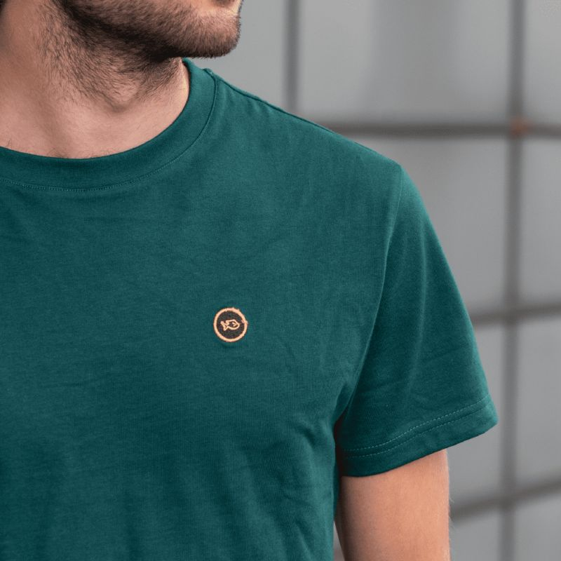 T-shirt unie vert en coton biologique - 190gr