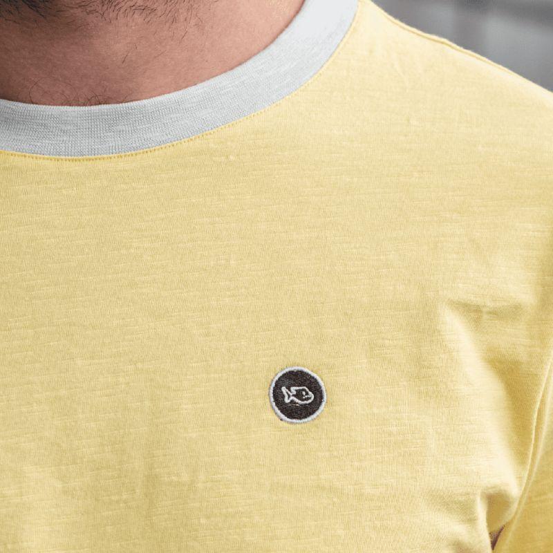 Organic cotton - Yellow flammed T-shirt - 220gr
