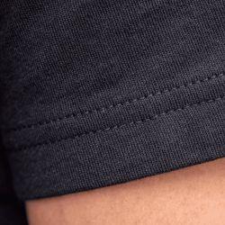 T-shirt uni noir en coton biologique - 190gr