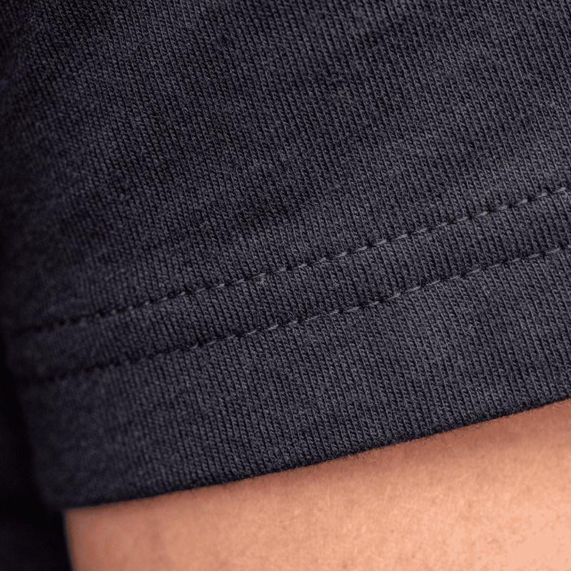 Organic cotton - Plain colour black T-shirt - 190gr