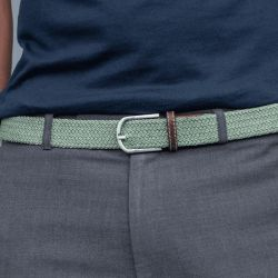 Elastic woven belt  Almond Green