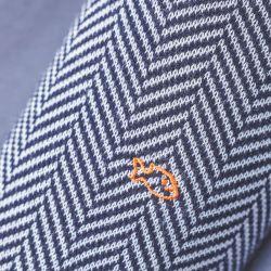Cotton socks Deep Blue Herringbone