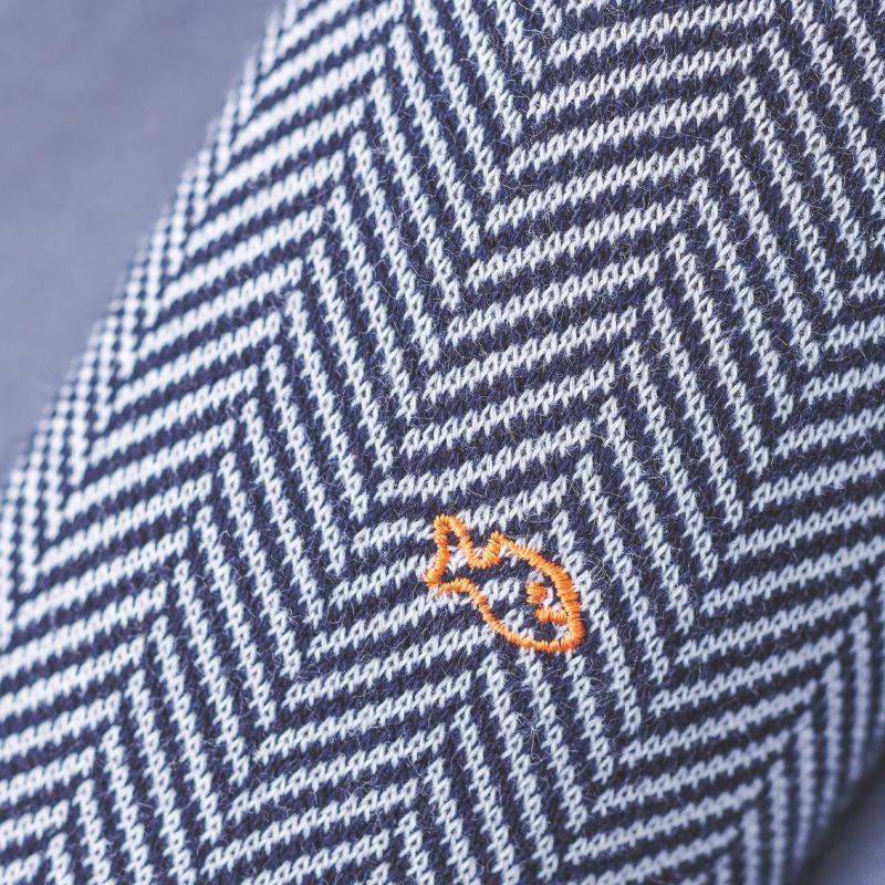 Chaussettes coton Chevrons Bleu Profond