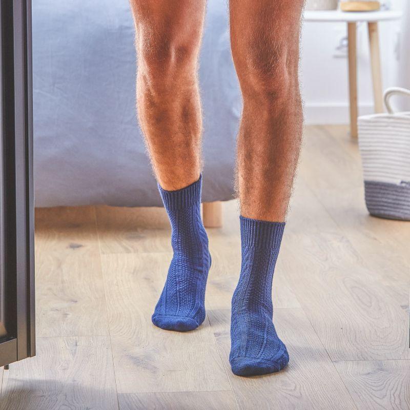 Chaussettes avec laine de Mérinos Bleu Marine