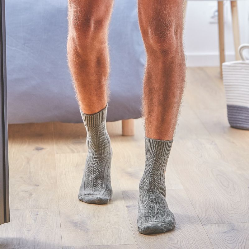 Wool Cotton Socks Khaki