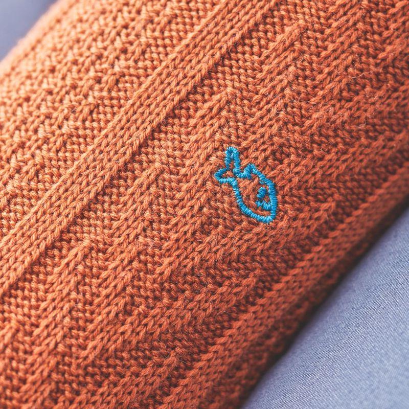 Chaussettes avec laine de Mérinos Fauve