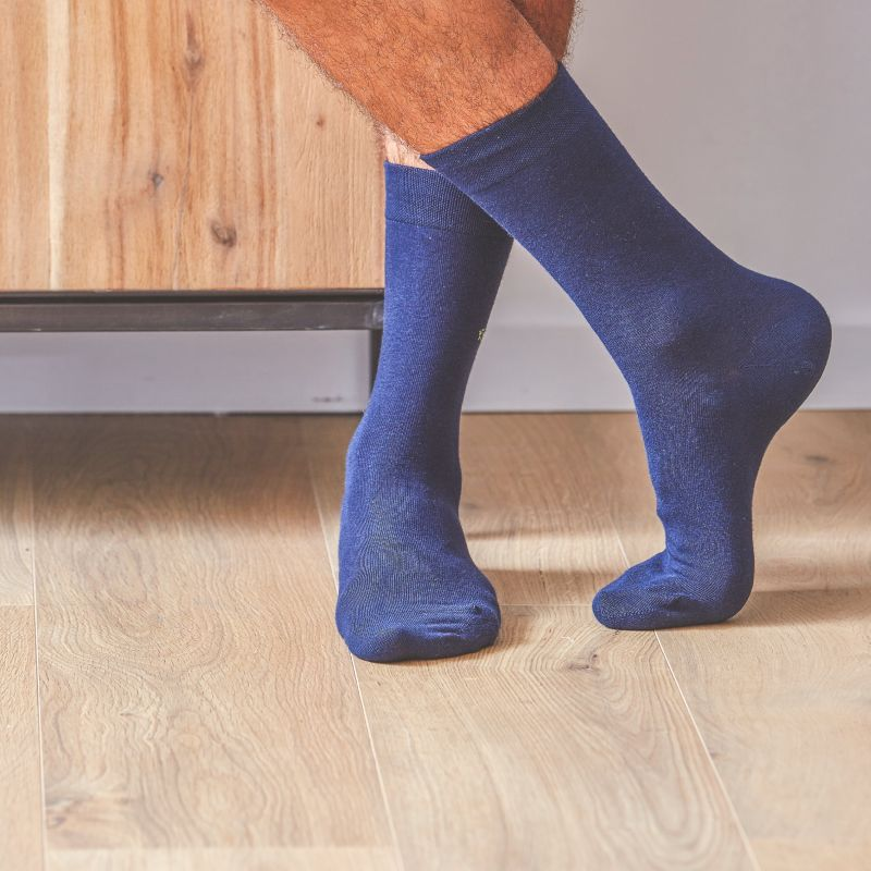 Cotton Socks Cobalt Blue