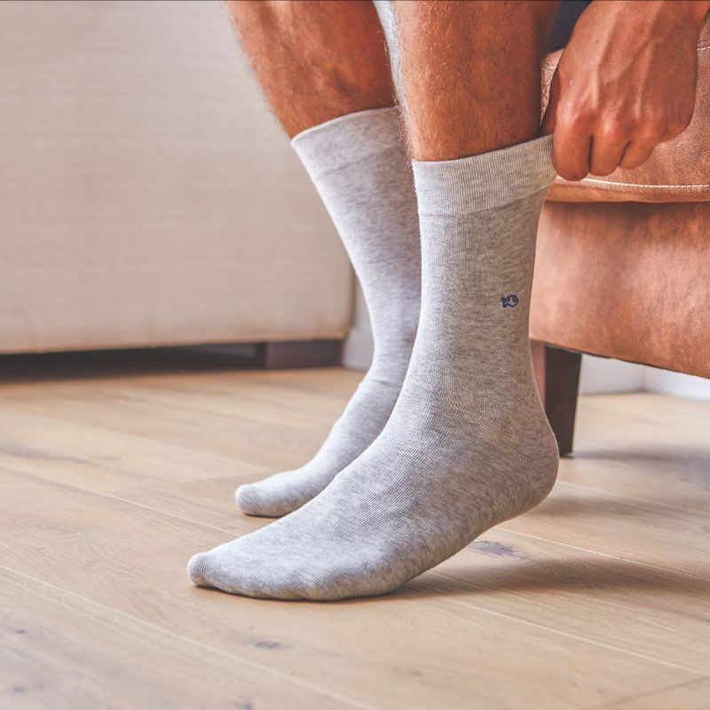 Cotton Socks Mottled Grey