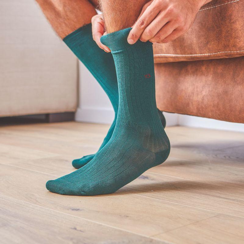 Lisle socks  UK Green