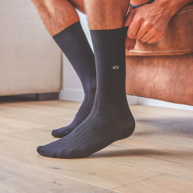 Lisle socks   Black Licorice