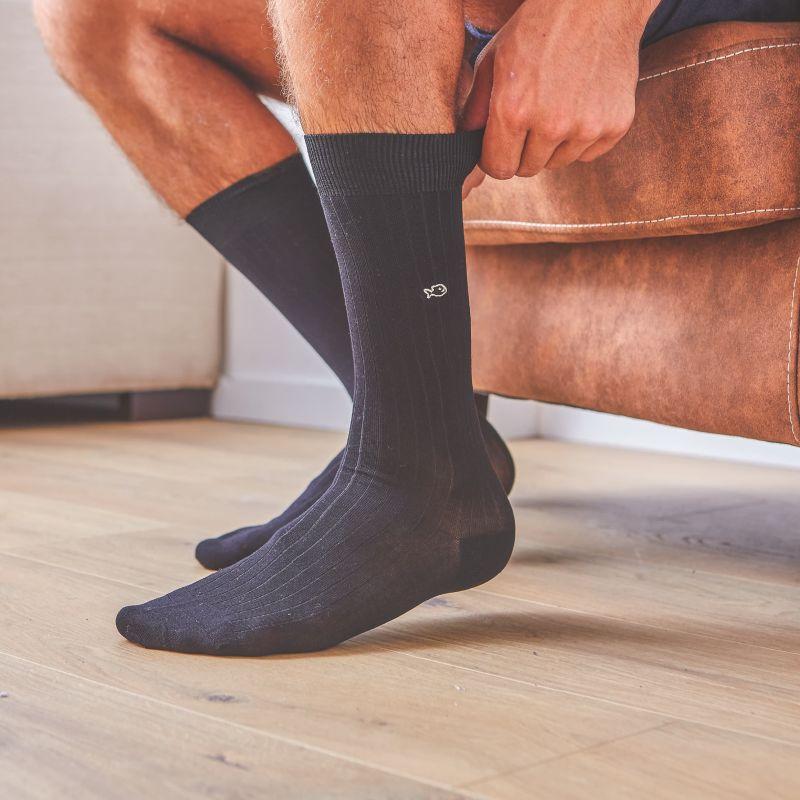 Lisle socks  Anthracite Grey