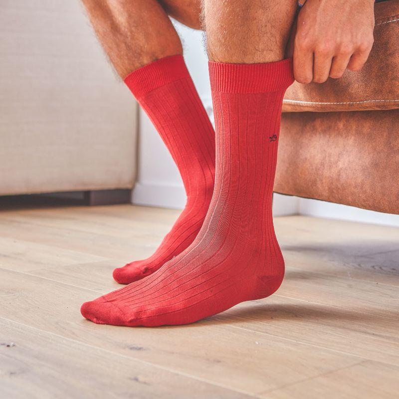 Lisle socks  Red Grenade